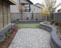 Photo: Randy Vanderveen  Grande Prairie, Alberta Friday, October 4, 2013 Finished landscaping project by Aztec Landscaping.